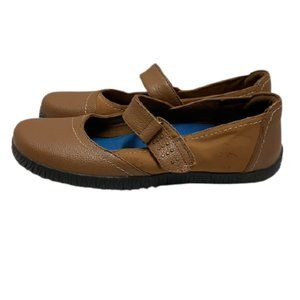 Womens Orthaheel Mary Jane Brown Leather size 10